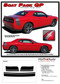 Challenger SCAT PACK QP : Factory OEM Scat Pack Style Vinyl Rally Stripes for 2011, 2012, 2013, 2014, 2015, 2016, 2017, 2018, 2019, 2020, 2021 Dodge Challenger! - FITS APPLICATIONS WITH SPOILER (AS SHOWN IN PICTURES)