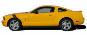 Mustang DOUBLE BAR : 2005-2009 Ford Mustang Hood to Fender Hash Mark Style Vinyl Racing Stripes Kit - Fits the 2005 2006 2007 2008 2009 For Mustang.  Pre-cut pieces ready to install. A fantastic addition to your vehicle, using only Premium Cast 3M, Avery, or Ritrama Vinyl!