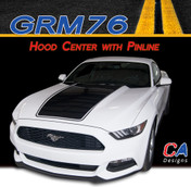2015-2016 Ford Mustang Hood Center with Pinline Vinyl Stripe Kit (M-GRM76)
