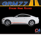 2015-2016 Ford Mustang Strobe Name Rocker Vinyl Stripe Kit (M-GRM77)