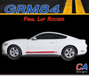 2015-2016 Ford Mustang Final Lap Rocker Vinyl Graphic Stripe Package Kit (M-GRM84)