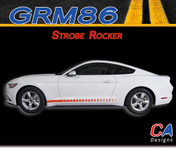 2015-2016 Ford Mustang Strobe Rocker Vinyl Graphic Stripe Package Kit (M-GRM86)