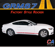 2015-2016 Ford Mustang Factory Style Rocker Vinyl Graphic Stripe Package Kit (M-GRM87)