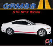 2015-2016 Ford Mustang GTS Style Rocker Vinyl Graphic Stripe Package Kit (M-GRM88)