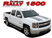 RALLY 1500 : 2014 2015 Chevy Silverado or GMC Sierra Vinyl Graphic Decal Stripe Kit . . . 2014 2015 Chevy Silverado and GMC Sierra Vinyl Graphics, Stripes and Decal Package! Ready to install. A fantastic addition to your new truck, using only Premium Cast 3M, Avery, or Ritrama Vinyl!