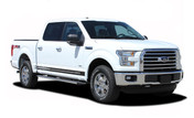 F-150 BREAKOUT ROCKER : 2015, 2016, 2017, 2018, 2019, 2020 Ford F-150 Rocker Panel Stripes Vinyl Graphic Decals (M-PDS3528)