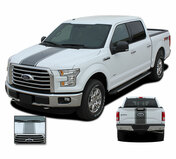 F-150 CENTER STRIPE : Ford F-150 Racing Stripes Vinyl Graphics and Decals Kit for 2015, 2016, 2017, 2018, 2019, 2020 Models (M-PDS3523)