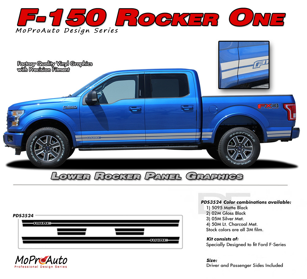 F 150 rocker one ford f 150 lower rocker panel stripes vinyl graphics