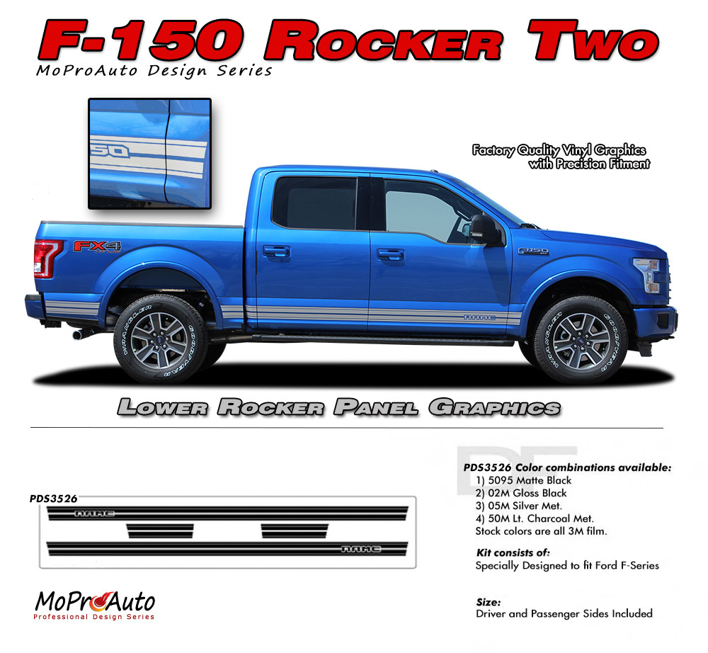 F 150 rocker two ford f 150 lower rocker panel stripes vinyl graphics