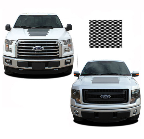 "FORCE HOOD Screen Print : Ford F-150 ""Appearance Package"" Hood Vinyl Graphic Kit for 2009-2014 and 2015 2016 2017 2018 2019 Models (M-PDS3519)"