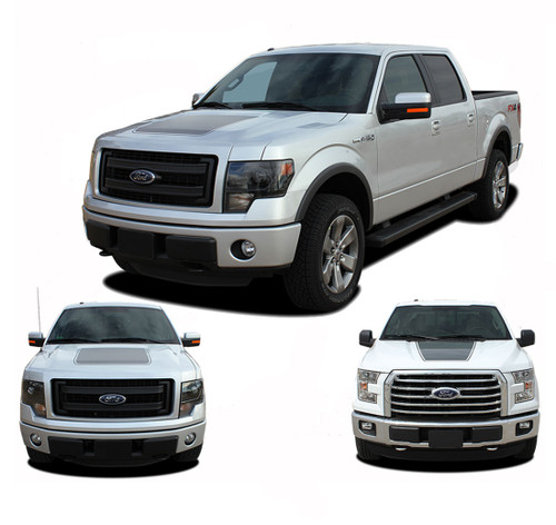 "FORCE HOOD Solid Color : Ford F-150 Hood ""Appearance Package Style"" Vinyl Graphic Kit for 2009-2014 and 2015 2016 2017 2018 2019 Models (M-PDS3520)"