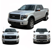 "FORCE HOOD Solid Color : Ford F-150 Hood ""Appearance Package Style"" Vinyl Graphic Kit for 2009-2014 and 2015, 2016, 2017, 2018, 2019, 2020 Models (M-PDS3520)"