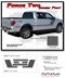 "FORCE TWO Screen Print : Ford F-150 ""Appearance Package Style"" Hockey Stripe Vinyl Graphics Decals Kit 2009-2014 and 2015 2016 2017 2018 2019 Models (M-PDS3518) - DETAILS"