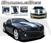 Camaro BUMBLEBEE : 2010 2011 2012 2013 Chevy Camaro Racing Stripes Kit  2010-2013 Chevy Camaro Bumblebee Racing Stripe Kit! Exact factory replica, engineered specifically for the new Camaro, this kit will give you a factory OEM upgrade look at a discount price! Pre-Cut pieces ready to install! Includes TWO HOOD options in every kit!
