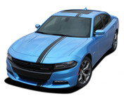 2015, 2016, 2017, 2018, 2019, 2020, 2021 E-RALLY : Euro Style Vinyl Graphics Decal Stripe Kit for Dodge Charger (M-PDS3599)