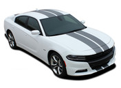 2015, 2016, 2017, 2018, 2019, 2020 N-CHARGE RALLY : Racing Stripe Rally Style Vinyl Graphics Decal Stripe Kit for Dodge Charger (M-PDS3592-97)