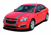 E-RALLY 15 : Chevy Cruze Euro Racing Stripes 2015 Vinyl Graphics and Decals (M-PDS3638-39)