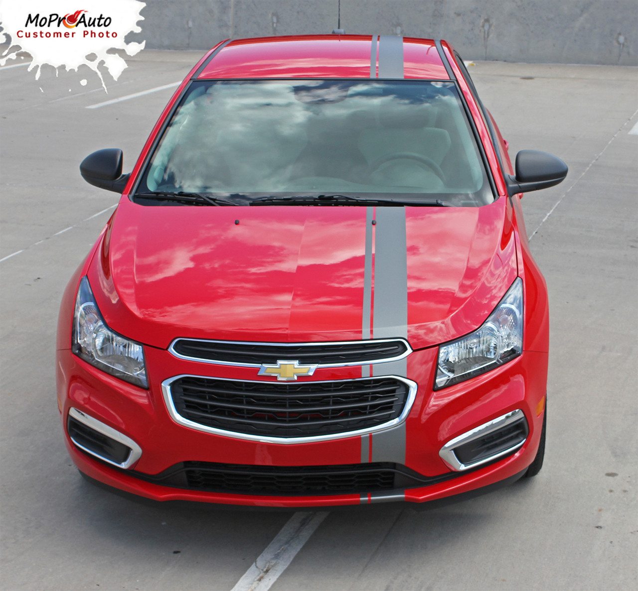 E Rally 15 Chevy Cruze Euro Offset Hood Racing Stripes 2015 Station Wagon Vinyl Graphics And Decals