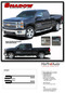SHADOW : 2014 -2016 2017 2018 Chevy Silverado Vinyl Graphic Decal Lower Body Accent Stripe Kit (M-PDS3688) - DETAILS