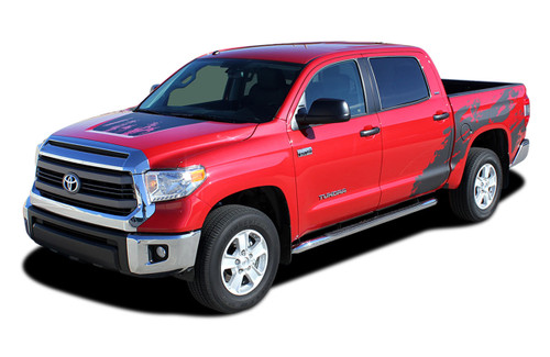 SHREDDER : 2014 2015 2016 2017 2018 2019 2020 2021 Toyota Tundra Crew Max 5.5 ft Short Bed Vinyl Graphic Decal Kit (M-EE3673.74)
