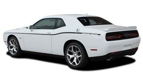 "Challenger SXT SIDE STRIPE : Factory OEM ""SXT Style"" Side Vinyl Stripes for 2011-2017 2018 2019 Dodge Challenger (M-PDS3745)"