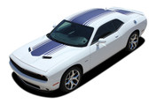 "Challenger SHAKER : Factory OEM ""Shaker Style"" Hood Roof Trunk Vinyl Rally Stripes for 2015, 2016, 2017, 2018, 2019, 2020 Dodge Challenger (M-PDS3734.39)"