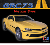 2014-2015 Chevy Camaro Mustache Stripe : Vinyl Graphics Kit (M-GRC73)