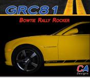 2010-2013 Chevy Camaro Bowtie Rally Rocker : Vinyl Graphics Kit (M-GRC81)