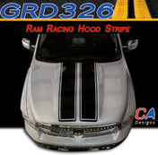 2009-2015 Dodge Ram Racing Hood Stripe Vinyl Striping Graphic Kit (M-GRD326)