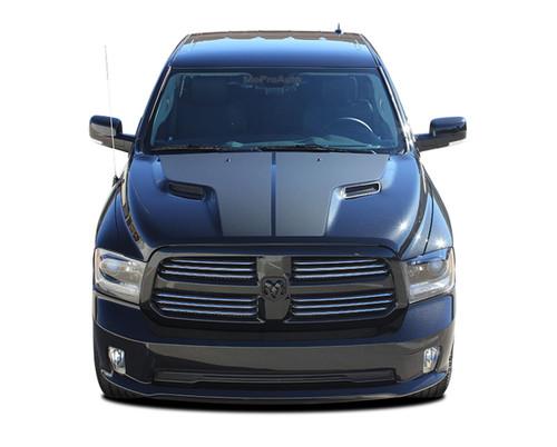 RAM HEMI HOOD : 2009 2010 2011 2012 2013 2014 2015 2016 2017 2018 Dodge Ram Vinyl Graphics Kit (M-PDS3858)
