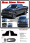 RAM HEMI HOOD : 2009 2010 2011 2012 2013 2014 2015 2016 2017 2018 Dodge Ram Vinyl Graphics Kit (M-PDS3858) - Details