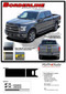 F-150 BORDERLINE : Ford F-150 Center Racing Stripes Vinyl Graphics and Decals Kit for 2015, 2016, 2017, 2018, 2019, 2020 Models (M-PDS3820) - Details