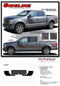 """SIDELINE : Ford F-150 """"Special Edition Appearance Package Style"""" Hockey Stripe Vinyl Graphics Decals Kit for 2015, 2016, 2017, 2018, 2019, 2020 Models (M-PDS3823)- Details"""