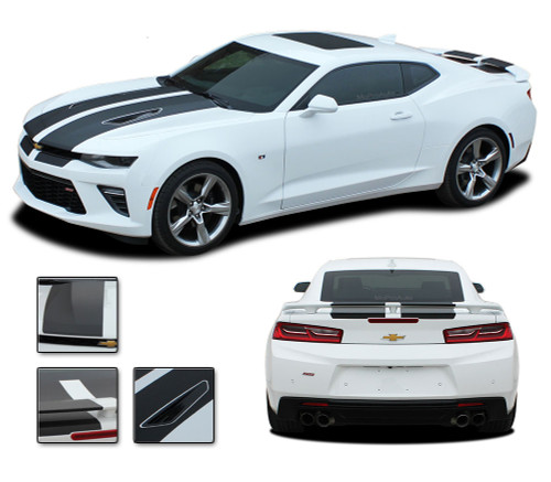 """2016 2017 2018 Camaro C-SPORT : Chevy Camaro """"OEM Factory Style"""" Vinyl Graphics Racing Stripes Rally Decals Kit (fits SS, RS, V6 MODELS)"""