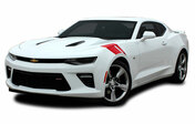 "2016 2017 2018 Camaro HASHMARK : Chevy Camaro ""OEM Factory Lemans Style"" Hood to Fender Hash Vinyl Stripes Graphics Decals Kit (fits SS, RS, V6 MODELS) (M-PDS3962)"