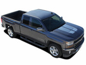 STERLING RALLY : 2016 2017 2018 Rally Edition Style Chevy Silverado Vinyl Graphic Decal Racing Stripe Kit (M-PDS3941)