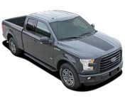 REAPER HOOD Solid Color : Ford F-150  Hood Blackout Vinyl Graphic Decal Stripe Kit for 2015, 2016, 2017, 2018, 2019, 2020 Models (M-PDS3975)