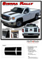 "SIERRA RALLY : 2014 2015 2016 2017 2018 ""Rally Edition Style"" GMC Sierra Vinyl Graphic Decal Racing Stripe Kit - Details"