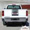 SIERRA MIDWAY : 2014 2015 2016 2017 2018 Center Hood & Tailgate GMC Sierra Vinyl Graphic Decal Racing Stripe Kit - Customer Photo 5
