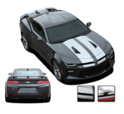 "2016 2017 2018 Camaro C-SPORT PIN : Chevy Camaro ""OEM Factory Style"" Vinyl Graphics Racing Stripes with Pin Outline Rally Decals Kit (fits SS, RS, V6 MODELS)"