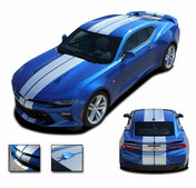 2016 2017 2018 Camaro TURBO SPORT : Chevy Camaro Bumper to Bumper Indy Style Vinyl Graphic Racing Stripes Rally Decals Kit (fits SS, RS, V6 MODELS) (M-PDS-4052)