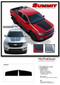 SUMMIT : Chevy Colorado Hood Dual Racing Stripe Package Vinyl Graphic Decal Kit (M-PDS-4150) Details