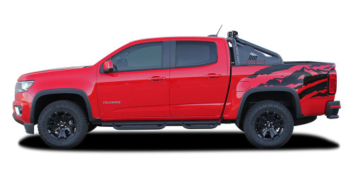 ANTERO : 2015 2016 2017 2018 2019 2020 Chevy Colorado Rear Truck Bed Accent Vinyl Graphic Package Decal Stripe Kit (M-PDS-4151)