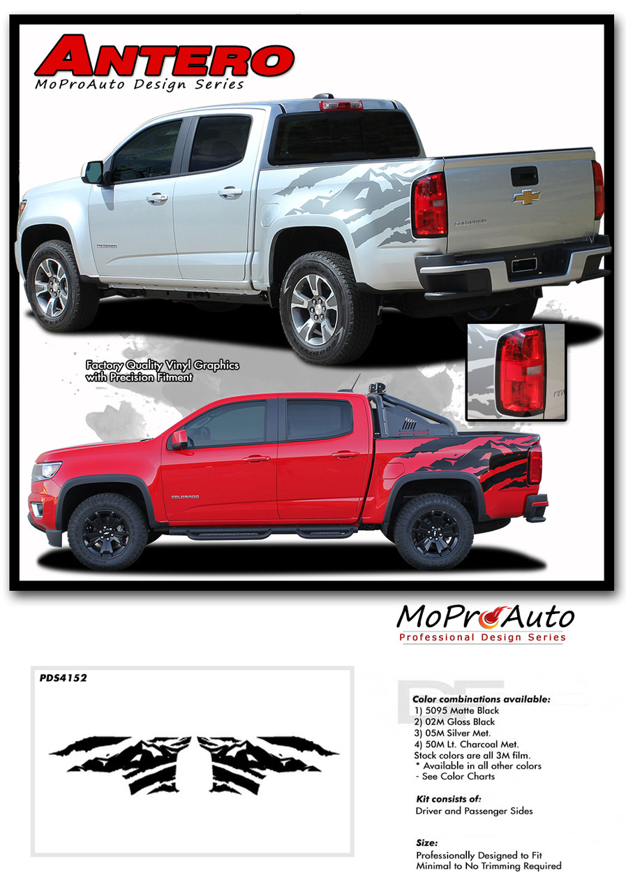 Antero 2015 2016 2017 2018 2019 chevy colorado rear truck bed accent vinyl graphic package