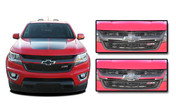 CRESTONE : 2015 2016 2017 2018 2019 2020 Chevy Colorado Front Grill Accent Vinyl Graphic Package Decal Stripe Kit (M-PDS-4159)