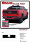 GRAND : 2015 2016 2017 2018 2019 2020  Chevy Colorado Rear Tailgate Blackout Accent Vinyl Graphic Package Decal Stripe Kit - Details