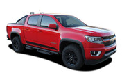 RAMPART : 2015 2016 2017 2018 2019 2020 2021 Chevy Colorado Lower Rocker Panel Accent Vinyl Graphic Package Factory OEM Style Decal Stripe Kit (M-PDS-4153)
