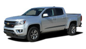 RANTON : 2015 2016 2017 2018 2019 Chevy Colorado Lower Rocker Panel Accent Vinyl Graphic Package Factory OEM Style Decal Stripe Kit (M-PDS-4153)