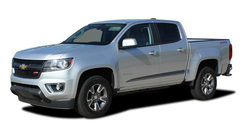RANTON : 2015 2016 2017 2018 2019 2020 Chevy Colorado Lower Rocker Panel Accent Vinyl Graphic Package Factory OEM Style Decal Stripe Kit (M-PDS-4153)