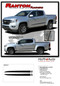 RANTON : 2015 2016 2017 2018 2019 2020 2021  Chevy Colorado Lower Rocker Panel Accent Vinyl Graphic Package Factory OEM Style Decal Stripe Kit - Details